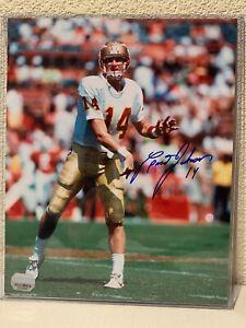 Brad Johnson Signed Florida State Seminoles 8x10 Photo Mounted Memories