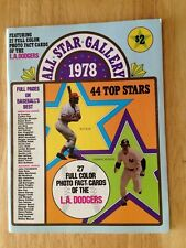 ALL STAR GALLERY 44 BASEBALL STARS+DODGERS UNCUT SHEET - SUTTON/LOPES/DUSTY more