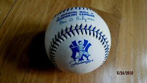 JOE DIMAGGIO Yankees Commemorative American League Baseball with original box