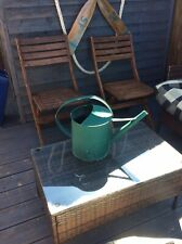 Green 2 Gallon Galvanised Metal Watering Can
