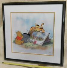 More details for winnie the pooh disney pooh & story time too cerical framed ltd edition
