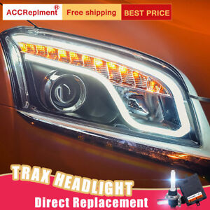 2Pcs For Chevrolet Trax Headlights assembly Bi-xenon Lens Projector LED DRL15-16