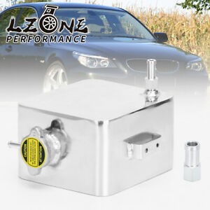 Universal Aluminium 2L Radiator Coolant Recovery Overflow Expansion Tank Silver
