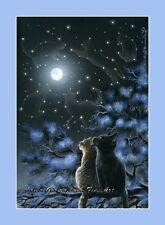 Estampado de Gato Magia de la noche de un original By Irina garmashova