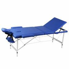 Inklapbare massagetafel 3 zones met aluminium frame (blauw) massage tafel