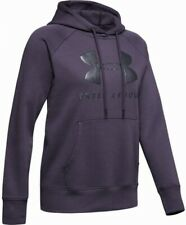 Under Armour Rival Fleece Logo Womens Training Hoody - Purple