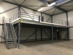 Stahlbühne Lagerbühne Lagerboden  Podest 8,00 x 5,00 m, Tragkraft 500 kg / m²