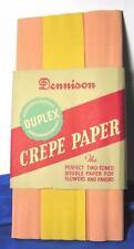 1 VTG 1940S UNUSED PKG DENNISON DUPLEX CREPE PAPER PINK N YELLOW CRAFTS, FLOWERS