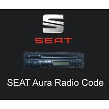 SEAT Aura Radio Code Stereo Codes PIN Unlock Fast Service UK