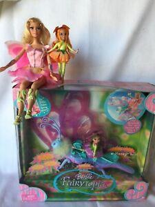 Barbie Fairytopia Lot Hue & Honey 2004 NRFB, Elina & Omma Dolls! Wow!