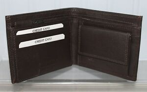 Brown Leather Wallet with Coin & Photo Holder Section by Golunski