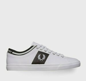 2020 Fred Perry B7140 - A19 Authentic Shoes Leather White US 5 EU 37