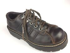 SKECHERS BROWN DISTRESSED LEATHER CHUNKY OXFORDS SHOES Women's Sz. 7.5