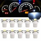 10x T5 B8.5D Gauge LED Car Dashboard Instrument Cluster Gauge Light Bulbs White Alfa Romeo 156