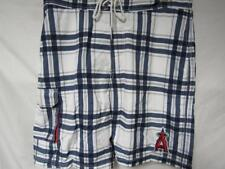 New listing Los Angeles Angels Mens Size Large Embroidered Plaid Swim Trunks C1 201