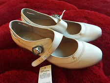 M&S Footglove MIX BIANCO DONNA SCARPE MARY JANE IN PELLE MISURA UK 8 RRP £ 45 BNWT'S