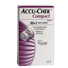 Accu-Chek Compact 51 Test Strips Compact PLUS Meters Expiration Date 05 2019