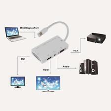 4 in 1 1080P Mini Displayport DP Male to HDMI DVI VGA Audio Female Adapter Cable