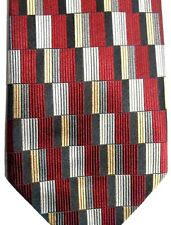 """Roberto Villini Couture Men's Silk Tie 57.5"""" X 4"""" Multi-Color Geometric"""