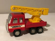 "Vintage Buddy L ""Snorkel"" Aerial Red Ladder Fire Truck Pressed Steel"