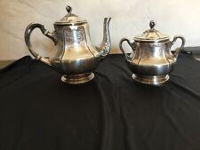# Service à thé café en métal argenté Christofle Gallia Théière sucrier modèle