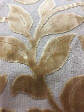 Waverly Gold Cut Velvet Stem Leaf Upholstery Fabric Bty 54 Wide