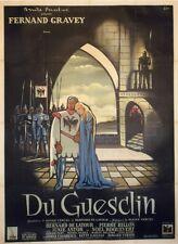 """""""DU GUESCLIN"""" Affiche originale entoilée Litho J. JACQUELIN (Fernand GRAVEY)"""