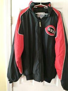 Men's Majestic Cincinnati Reds 2XL 100% NYLON Full Zip Jacket/Coat