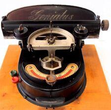 ANTIQUE typewriter GENIATUS index Macchina da scrivere maquina escribir de 1924