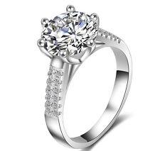 Women 18k White Gold Filled Silver 3.5 Carat Wedding Bridal Engagement Ring R151