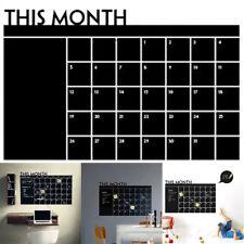 DIY Monthly Planner Memo Board Chalkboard Blackboard Sticker Wall Decor Calendar
