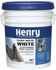 White Roof Coating 4.75 Gal. Elastomeric Reflective Waterproof Roofing Bucket