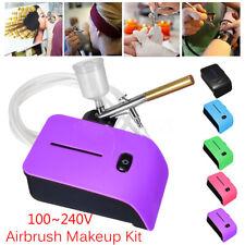 Adjustable Cake Art Craft Airbrush Compressor Kit Tattoo Nail Painting Spray