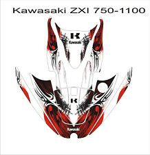 KAWASAKI ZXi 750 1100 jetski Jet Ski Graphic Kit Wrap pwc decals stickers 8