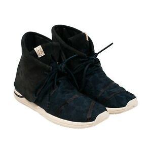 Brand New Visvim  Huron Lhamo HI Folk Black Suede Moccasin Sneakers Size 12