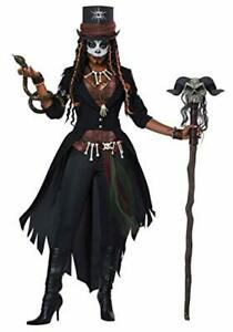 Women's Gothic Voodoo Magic Witch Doctor Halloween Costume and Hat Plus Size 1X