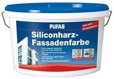 (9,00€/L) Pufas Silikonharz Fassadenfarbe schlagregendicht Abperleffekt  5L
