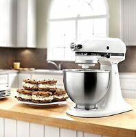 KitchenAid KSM75WH Classic Plus Stand Mixer White -- BRAND NEW SEALED!!