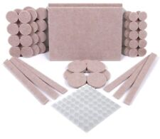 124 Pack Furniture Felt Pads 5 mm Thick 60 Felt Pads & 64 Rubber Bumpers Beige