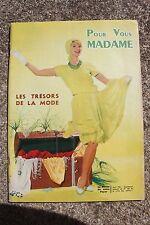 ANCIENNE REVUE DE VOTRE FOYER POUR VOUS MADAME N°183 AVRIL 61 TRESORS DE LA MODE