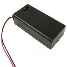 Pack With Wire Lead 9V PP3 Battery Holder DC Box Cover On/off Toggle Switch