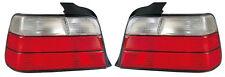 Indietro Posteriore Coda Luci Lampade Indicatori Set in Rosso-Bianco Coppia per BMW e36 Saloon