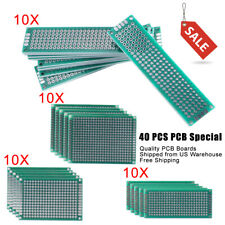 40 X Fr 4 Double Side Prototype Pcb Printed Circuit Board Of 254mm Hole Pitch