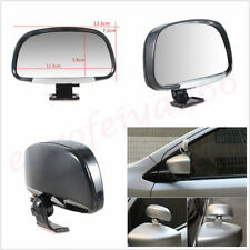 1 Pair Silver Adjustable ABS Blind Spot Side Rear View Mirrors For Car SUV Truck