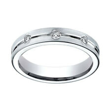6mm Comfort-Fit 8-Stone Eternity Ring Sz-5 1/3 Ct Diamond Sterling Silver Gold