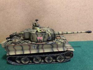 RC Panzer German Tiger I Heng Long, R&S, Metallgetriebe, Metallketten, Figuren