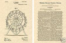 1st Ferris Rad US Lack 1893 Kunstdruck Bereit für Rahmen Thomas Roundabout
