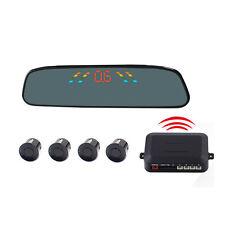 Car Parking Sensor Backup Reverse Rear View Radar Alert Alarm System 4 Sensors