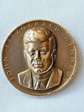 More details for john fitzgerald kennedy jfk inaugurated january 20 1961 high relief medal/token
