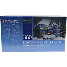 360 Blue Snowing Icicle Indoor Outdoor Christmas Lights With Ultra Bright LED